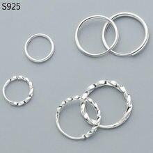 1f199b018fad Genuino Real puro sólido S990 pendientes de aro de plata para las mujeres  niña niño fina joyería femenina plata esterlina 925 pe.