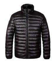 Новый 2016 Зимняя Мода Мужская Куртка Вниз Утка Повседневная Твердые вниз и Парки Плюс Размер Парки Invierno Hombre Тонкий Мужчины пальто