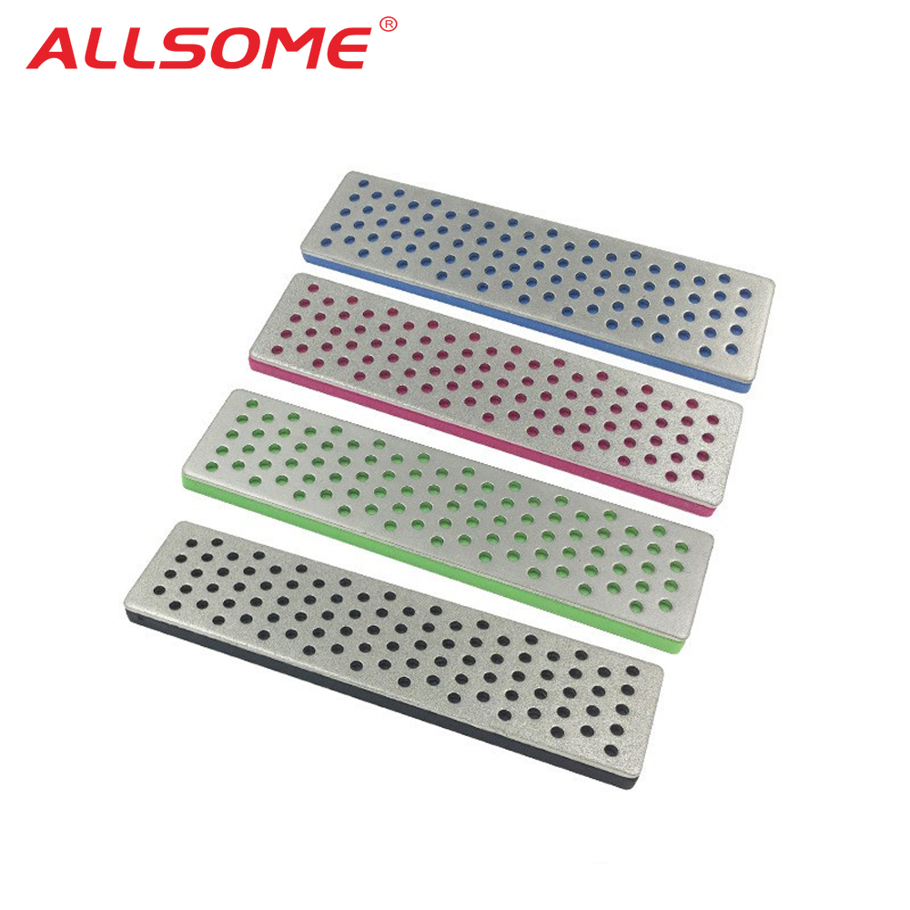 ALLSOME 100x25x2mm Diamond Sharpening Stones For Ice Snowboard Ski Edges Skiing Sharpeners Grit 240 360 500 1000 Abrasive Tool