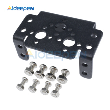 цена на Multi Functional MG995 Servo Bracket Aluminum Mulipurpose Mount Plate for Robot Arm Mechanical Robotic Part Accessory Rc Toy