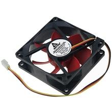 цена на 10pcs Case Fan 80mm 12V 3 Pin 8025 80x80x25mm Computer CPU Cooler Brushless DC Cooling Fans