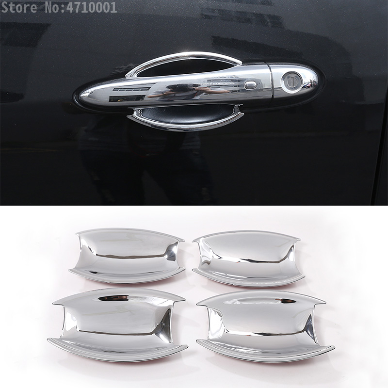 ABS Chrome Polish Car Exterior Door Handle Bowl Cover 4pcs For Maserati Levante 2016 Car-styling Auto Parts image