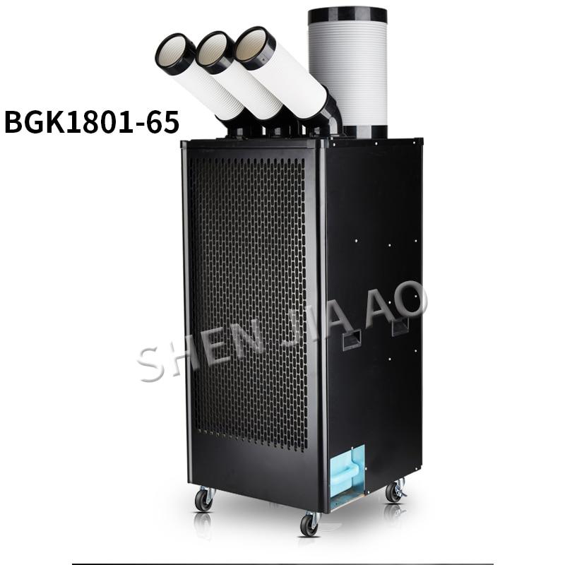 Klimaanlagen FleißIg 220 V Klimaanlage Industrie Mobile Klimaanlage Kompressor Drei Air Outlet Luftkühler Einzigen Kalten Typ Integrierte Großgeräte