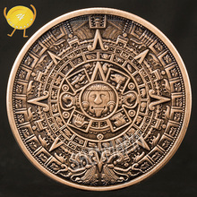 Maya Aztec Commemorative Coin Indian Mayan Long-Count Calendar Challenge Civilization Purple Copper Religion Coins