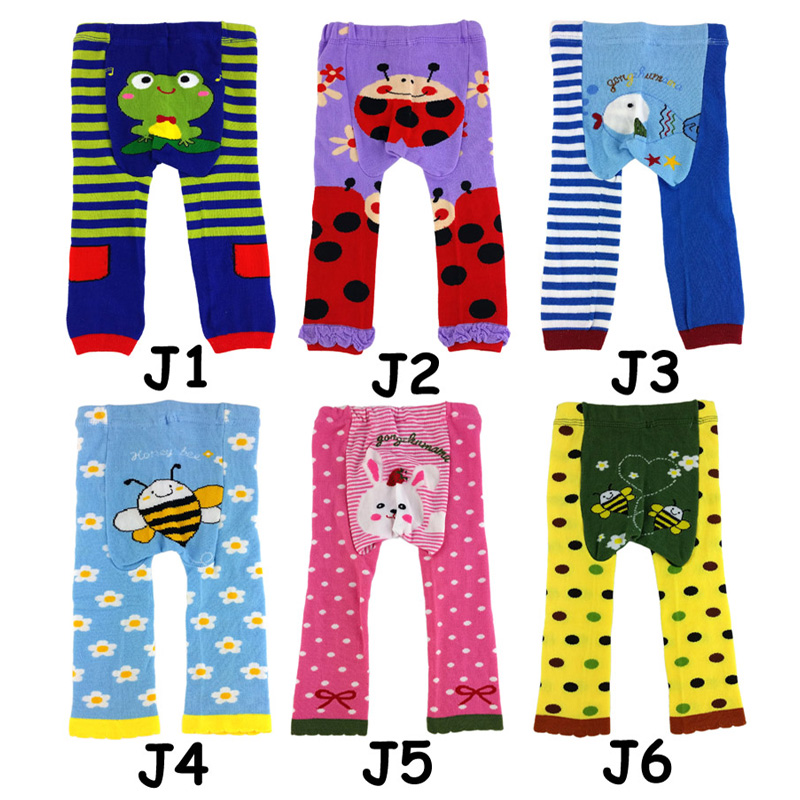 Nuevo 6 unids Babyizu Leggings Pantalones de los niños del bebé medias del bebé del desgaste infantil pantalones de niños