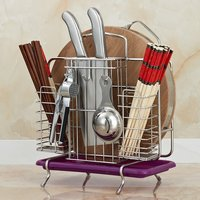 Cutting Boards Organizer/Knives Block/Bakeware Rack with Drainboard