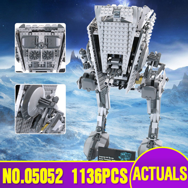 Lepin 05052 Star 1136pcs New War Series The Empire AT-ST Robot Building Blocks Bricks Set Children Toys Gift With legoing 10174 gonlei in stock 05052 1068pcs new star war series the empire at st robot building blocks bricks set toys 10174