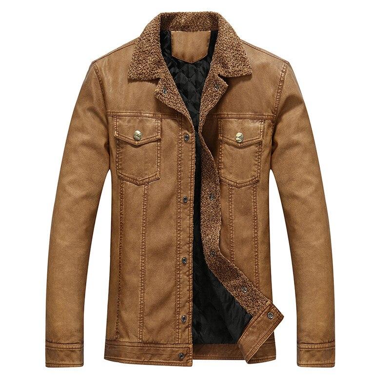 Hot high quality men s leather font b jacket b font casual windbreaker coat font b