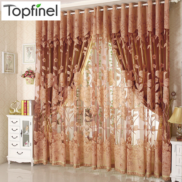 Top Finel Hot Modern Tulle For Window Curtain Embroidered Voile Sheer  Curtains For Living Room The