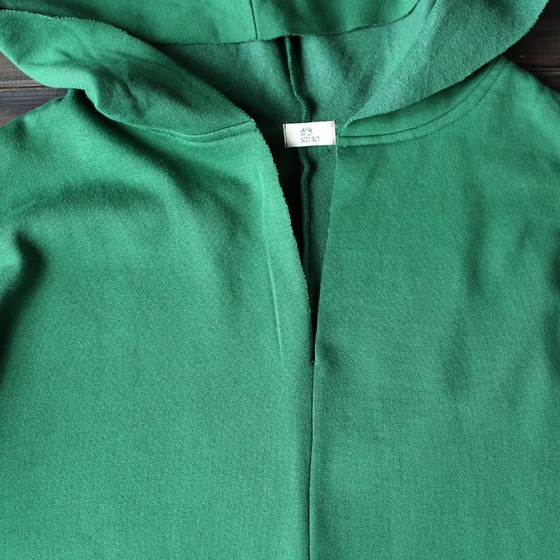 Fall New Robe Sweatshirt Women green Clothing 2018 Hoodies red gray Long Sleeve Cotton Black Warm Winter V neck Thick A7BI5qwx6