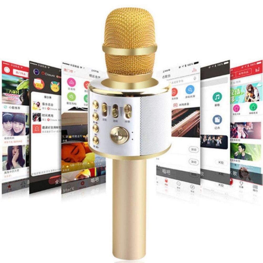 K38 Wireless Bluetooth Karaoke Microphone Handheld  KTV Home Mic Speaker Player Professional Microphones 2016 new k068 wireless microphone microfone with mic speaker condenser mini karaoke player ktv singing record for smart phones