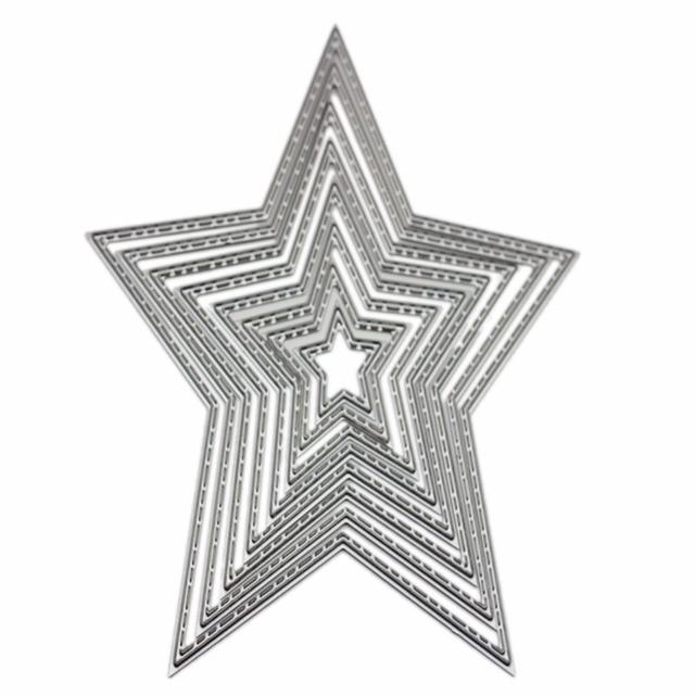 Carbon Steel Star Cutting Die DIY Scrapbooking Embossing Templates ...
