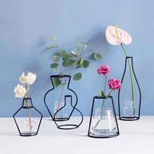 Creative Iron Vase Planter Rack Flower Pots Shelf Soilless Pots Organizer Home Party Decoration Vase Dried Flower Ornaments