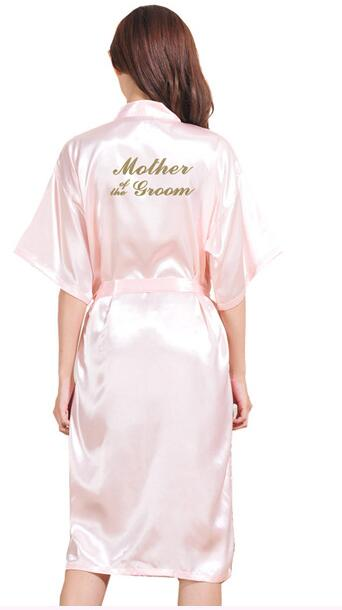 TJ01 Large Size S-3XL Gold Letter Bride Mother of the Groom Get Ready Rbes Bridal Party Gifts Bathrobe Dressing Gowns For Women
