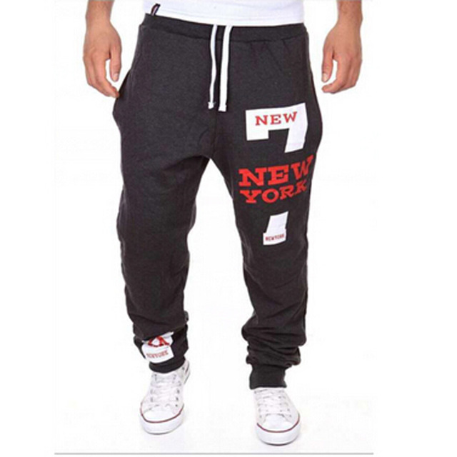 Pantalon homme 2017 nuevos hombres pantalones harem flojos pantalones  deportivos hip hop pantalones de chándal corredores 47b318bc3951