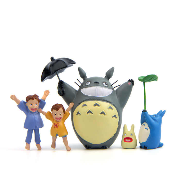 Hotuocho Diy Totoro Miniature Figurine Neighbor Totoro Anime Action Figure Kawaii Diy Garden Ornament Home Decoration
