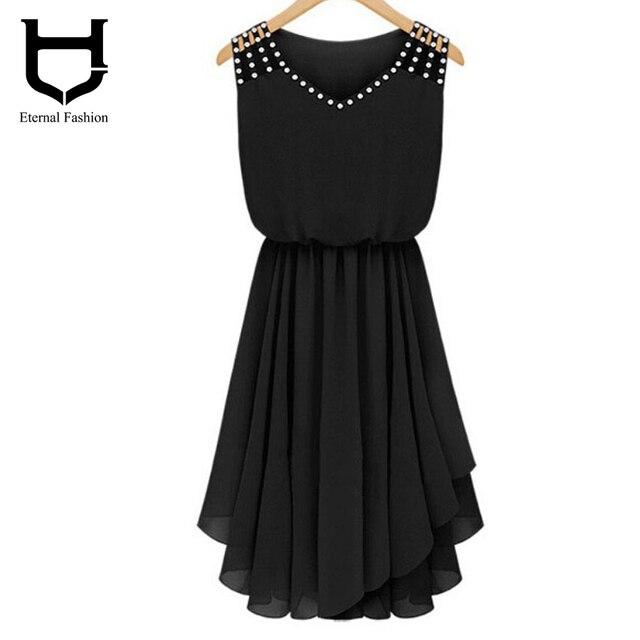 Женщины vestidos Dress Алмаз Sexy v-образным вырезом Без Рукавов украина abendkleider асимметричный Женщины Платья длиной до колен Black Dress