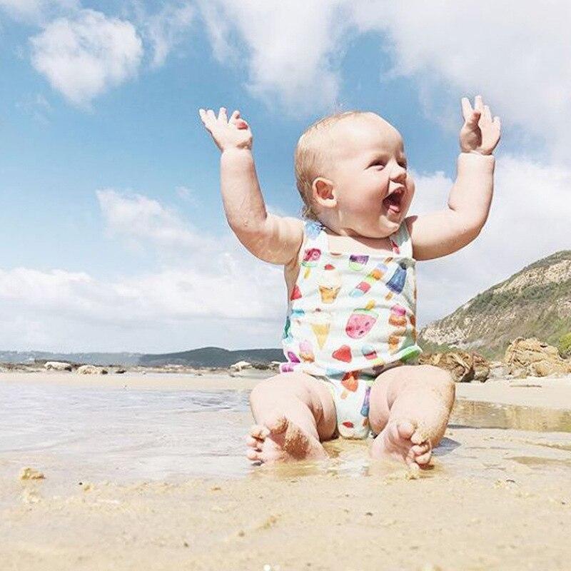 Preciso Della Ragazza Dei Bambini Senza Maniche Costumi Da Bagno Maglia Ice Cream Modello Vestito Di Nuoto Di Modo S7jn Squisita (In) Esecuzione