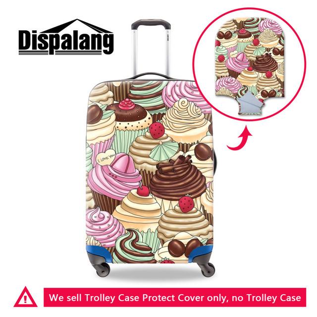Dispalang sorvete impressão viagem bagagem capa protetora para 18-30 polegada mala de bagagem à prova d' água cobrir tampa trecho elástico