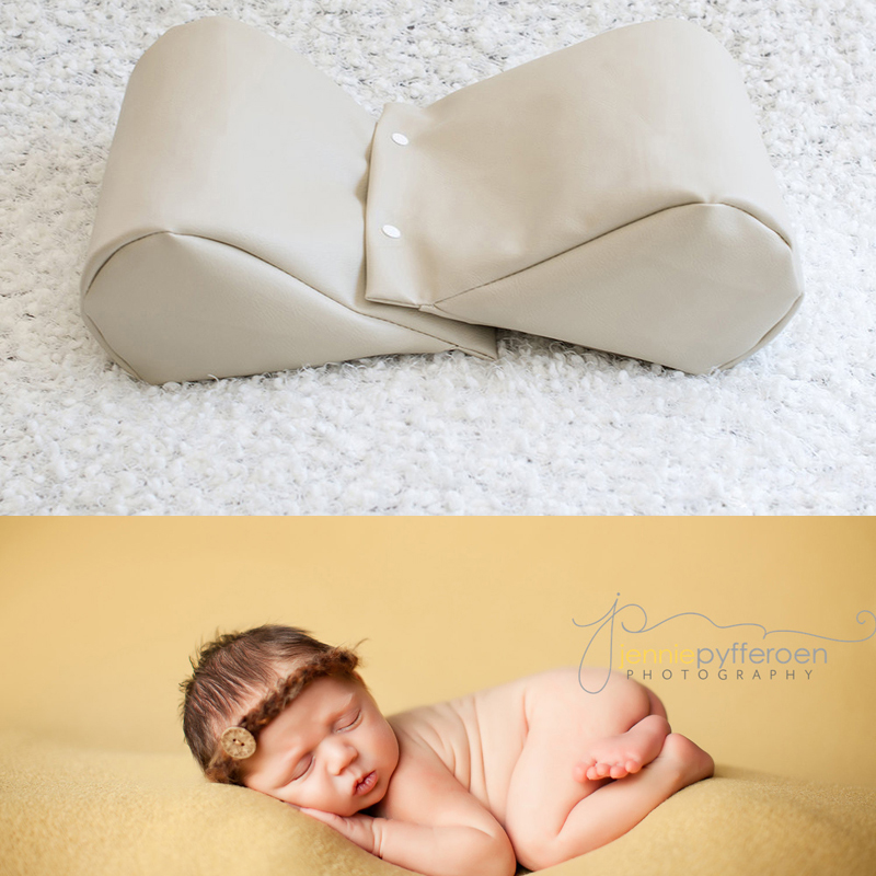 Photo Props PU Leather Wheat Butterfly Newborn Photography Prop Wedge Shaped Pillow Posing Beanbag Basket Stuffer Atrezzo FotosX