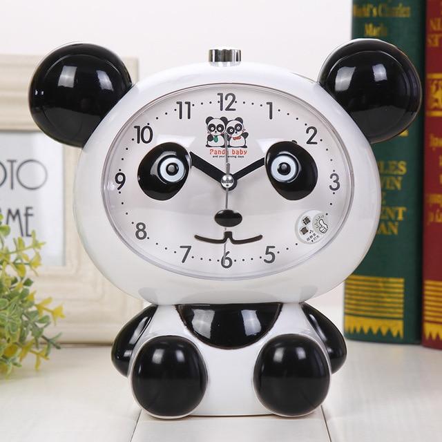 Giant Panda Night Light Plastic With Childrenu0027s Voice Nightlight Alarm Clock  Desktop Bell Student Bedroom Bedside
