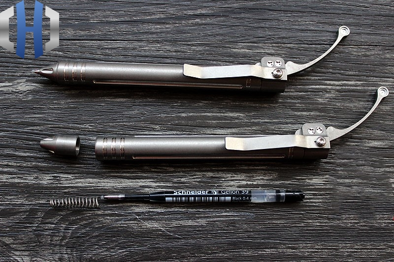 TC4 Titanium Alloy CNC Siphon Pen Tactical Signature Pen EDC Defense Pen Gift