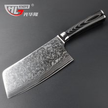 Asian cleaver chopping and meat carving Japanese Damascus VG10 67 layer  steel core sharp Chinese kitchen knives