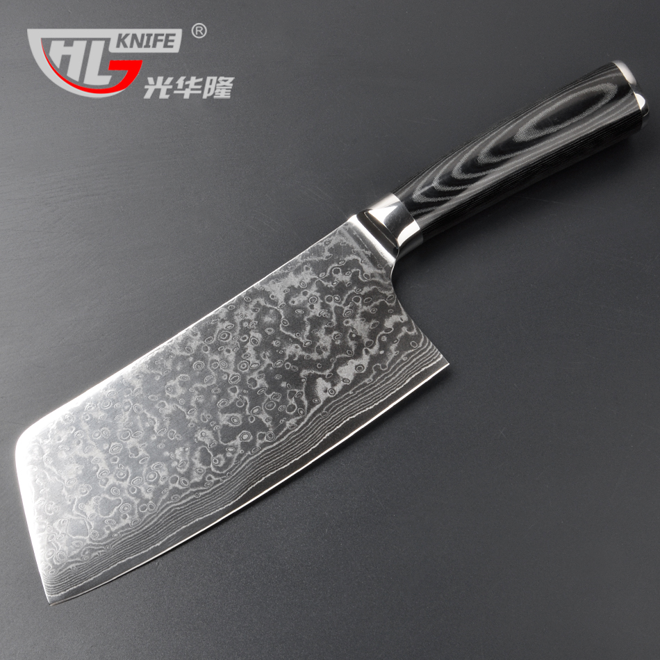 Asian mannaia taglio e carne intagliare giapponese damasco vg10 67 strati anima in acciaio sharp cinese coltelli da cucina