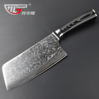 Asian Cleaver Chopping And Meat Carving Japanese Damascus VG10 67 Layer Steel Core Sharp Chinese Kitchen