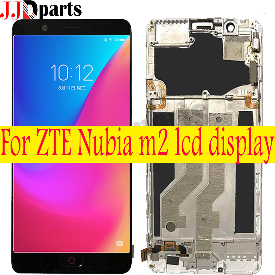 For 5 5 ZTE Nubia M2 LCD Display Touch Screen Digitizer Assembly NX551J with frame For