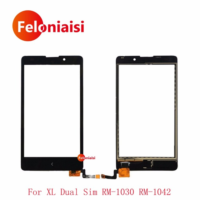 "High Quality 5.0"" For Nokia XL Dual Sim RM-1030 RM-1042 Touch Screen Digitizer Sensor Outer Glass Lens Panel Black+Tracking Code"