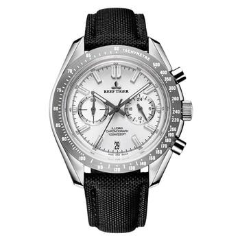 2020 Reef Tiger/RT Mens Designer Sport Watches with Calfskin Nylon Strap 316L Steel Luminous Chronograph Watch RGA3033