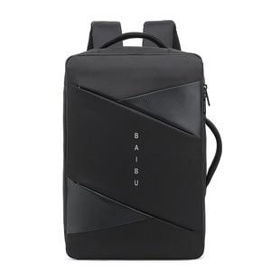Image 2 - BAIBU sac à dos Anti vol pour hommes, sacoche ordinateurs portables dentreprise/15.6 pouces, chargeur USB, gestionnaire intelligent, sacoche de voyage en plein air