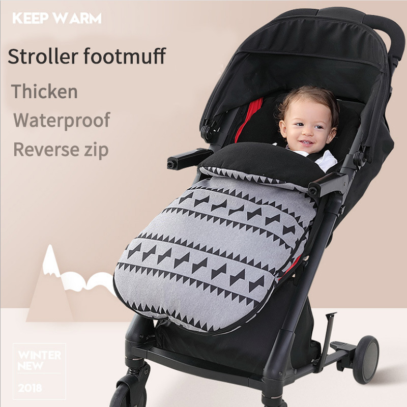 Baby sleeping bag Waterproof baby stroller footmuff Windproof baby stroller footcover Foot Muff Universal stroller accessories триммер электрический bosch amw 10 1000вт насадка триммер