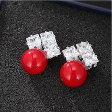 Everoyal Female Fashion Gold Pearl Zircon Earrings Girls Jewelry  New Arrival Lady Silver 925 For Women Accessories