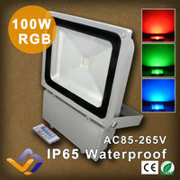100W RGB Led Floodlight Waterproof Flood Light Outdoor Lighting Street Lighting Gardan landscape Lighting Advertising Flood Lamp