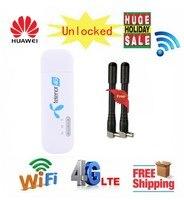 Unlocked Huawei E8372 E8372h 608 4G LTE 150Mbps USB Modem WiFi Dongle 4G Carfi Modem Support 10 Wifi Users Gift 2pcs antenna