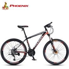 Phoenix Mountain Bike 27 Speed Men Women Steel Bicycle MTB Suspension Microshift