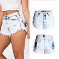 High Quality Women Vintage High Waist Fray Destroyed Tassel Hot Sexy Denim Mini Shorts Casual Punk Summer Short Jeans