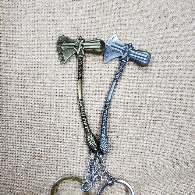 [Drôle] 30 pièces/lot super héros Thor Stormbreaker Tomahawk marteau figure en métal modèle sac porte-clés pendentif jouet cadeau