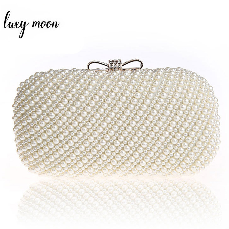 New Luxury Pearl Clutch Bags Women Evening Bags Exquisite Clutches Purse For Party Wedding Lady Handbags Bolsa Feminina