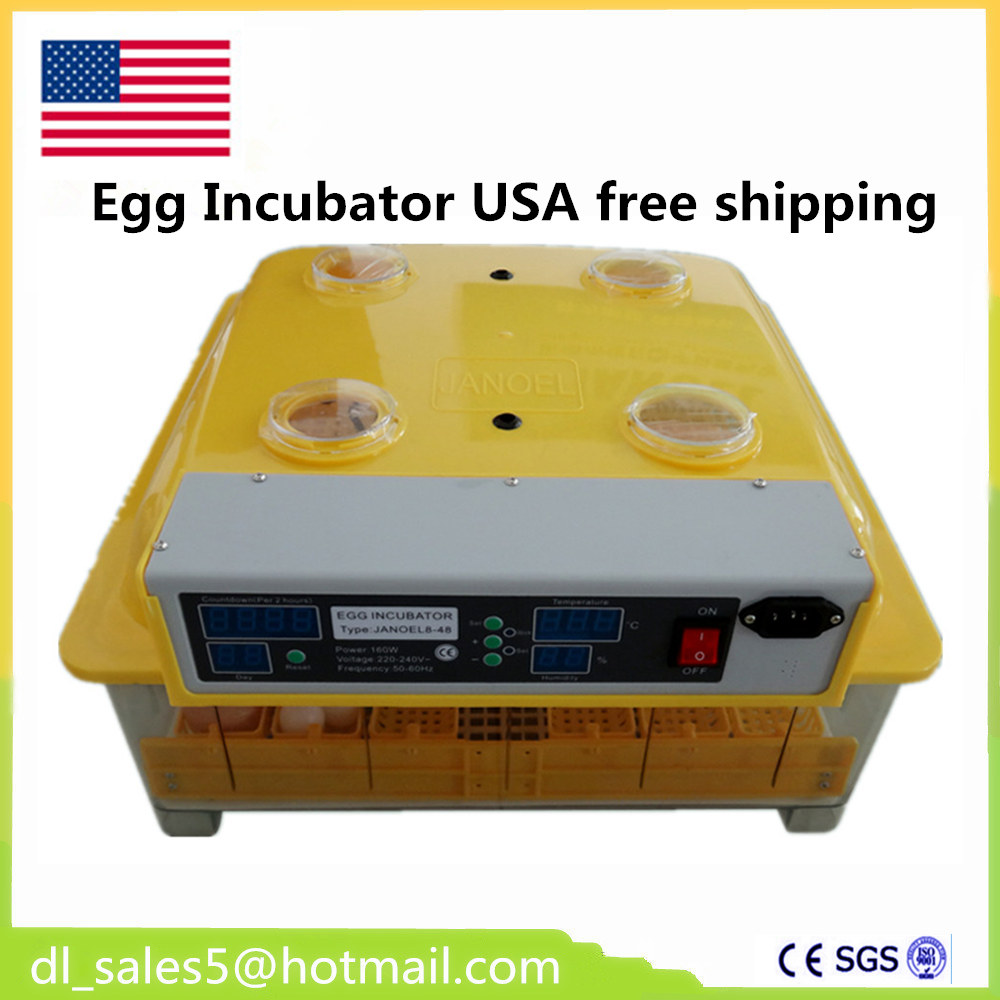 Mini 48 Egg Incubator Poultry Incubator Brooder Digital Temperature Hatchery Egg Incubator Hatcher Chicken Duck Bird Pigeon chicken egg incubator hatcher 48 automatic mini parrot egg incubators hatcher hatching machines