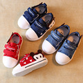 Autumn Spring New 2016 Kids Canvas Shoes Cartoon Design Boys Girls Sneakers Red Blue Children Shoes