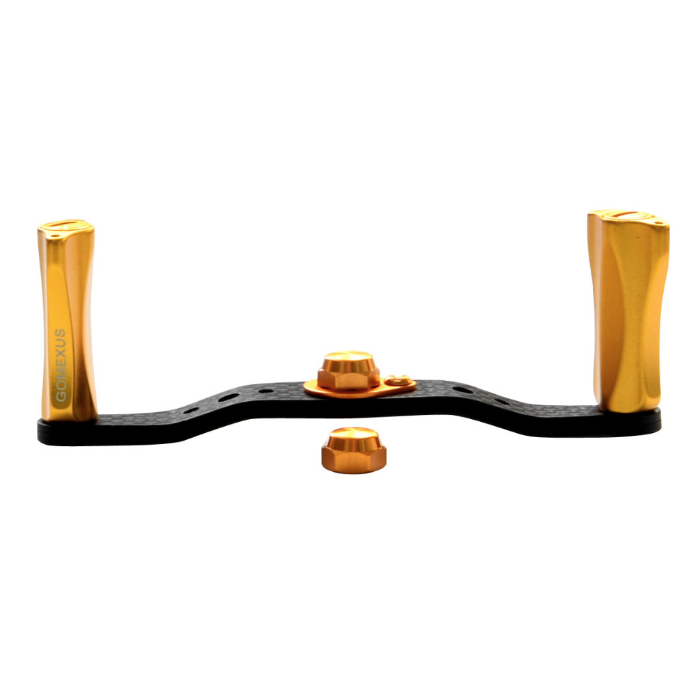 Gomexus Power Griff Carbon Für Shimano Stile SS Engetsu Daiwa Zillion Steez Tatula Banax Baitcastingrolle 100mm Spindel 8 x 5mm
