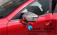Lapetus Chrome Side Door Rearview Mirrors Molding Garnish Cover Trim 2 Pcs For Mazda 3 AXELA Hatchback Sedan 2014 2015 2016