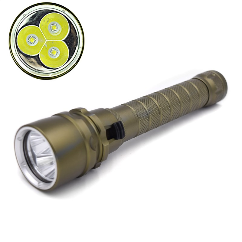 ViTa 100M Dive Stepless Dimming Led Flashlights 8000 Lumen 3x XM-L2 LED Scuba Diving Flashlight Torch 18650 Underwater Lamp 100m underwater diving flashlight led scuba flashlights light torch diver cree xm l2 use 18650 or 26650 rechargeable batteries