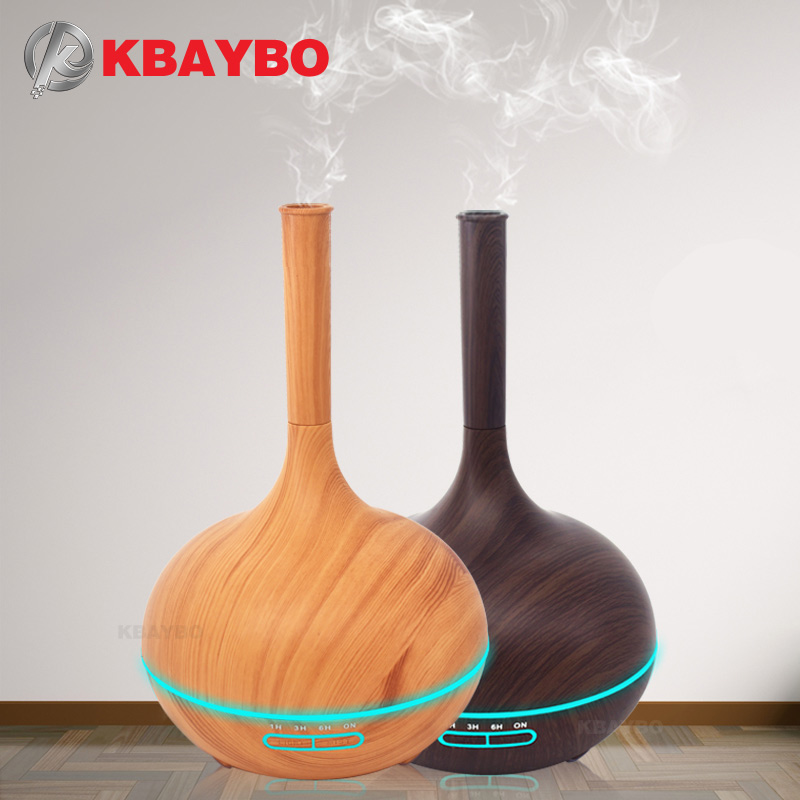 400ml Aroma Essential Oil Diffuser Wood Grain Ultrasonic Cool Mist Humidifier for Office Home Bedroom Living Room Study Yoga Spa цена и фото