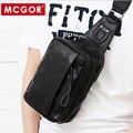 New Men's Leather Chest Bag Vintage Black Chest Pack Shoulder Chest Pack Casual Fashion Waist Bag messenger bag cross body