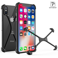 OATSBASF X Shape Case For IPhone X Personality Shell For IPhone X Case Metal Bumper Case