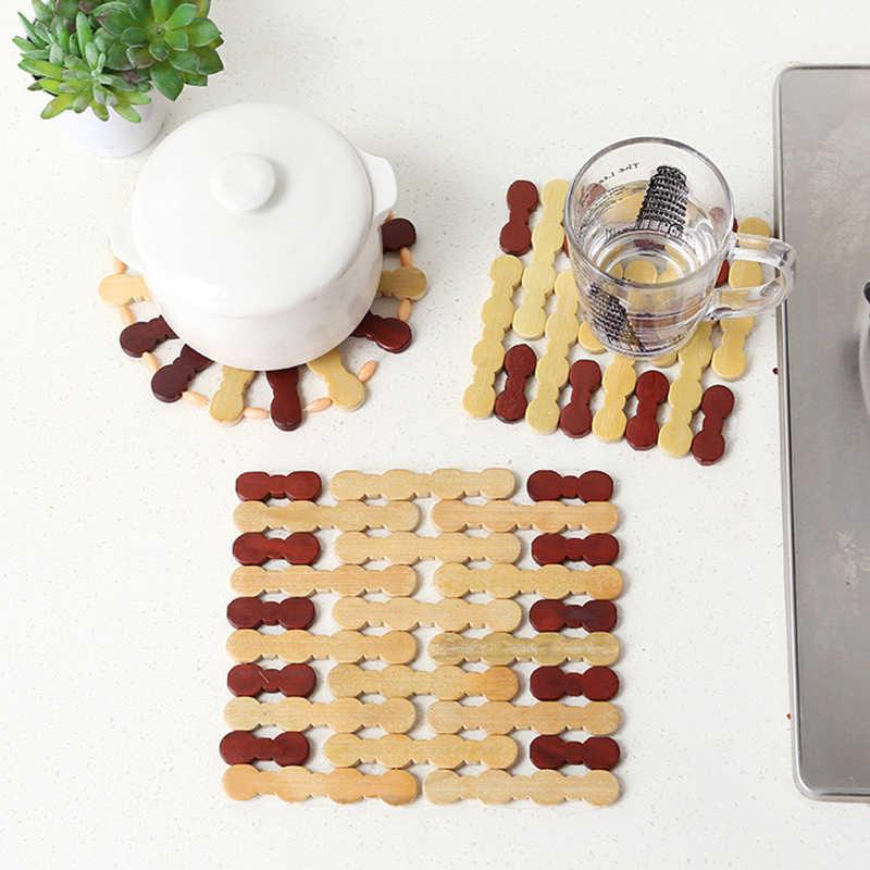 Коврик для тарелок кухонные подносы настольные коврики кольца для вышивки и квадратного дизайна подставки под миски объемный коврик для кухни оптом